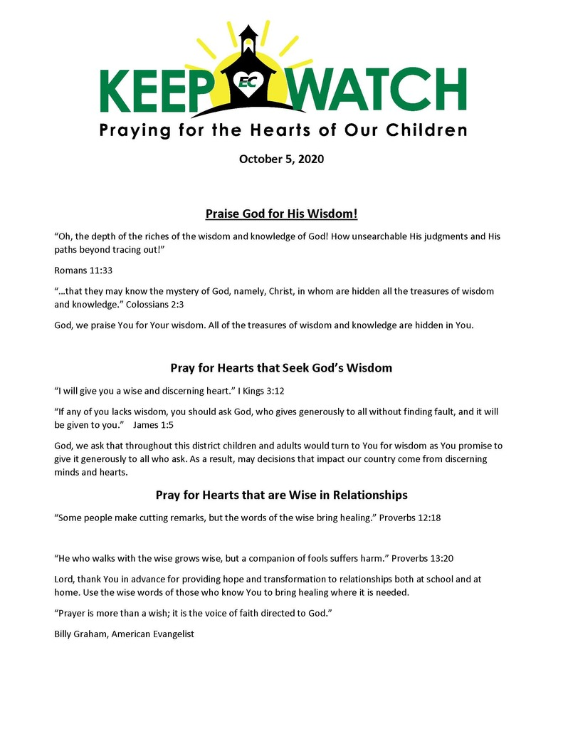 Keep Watch Prayer Focus - 10-5-20