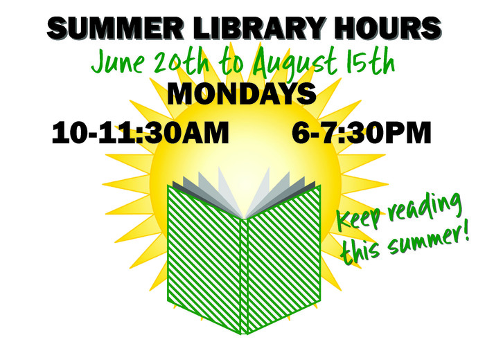 Summer Library Hours