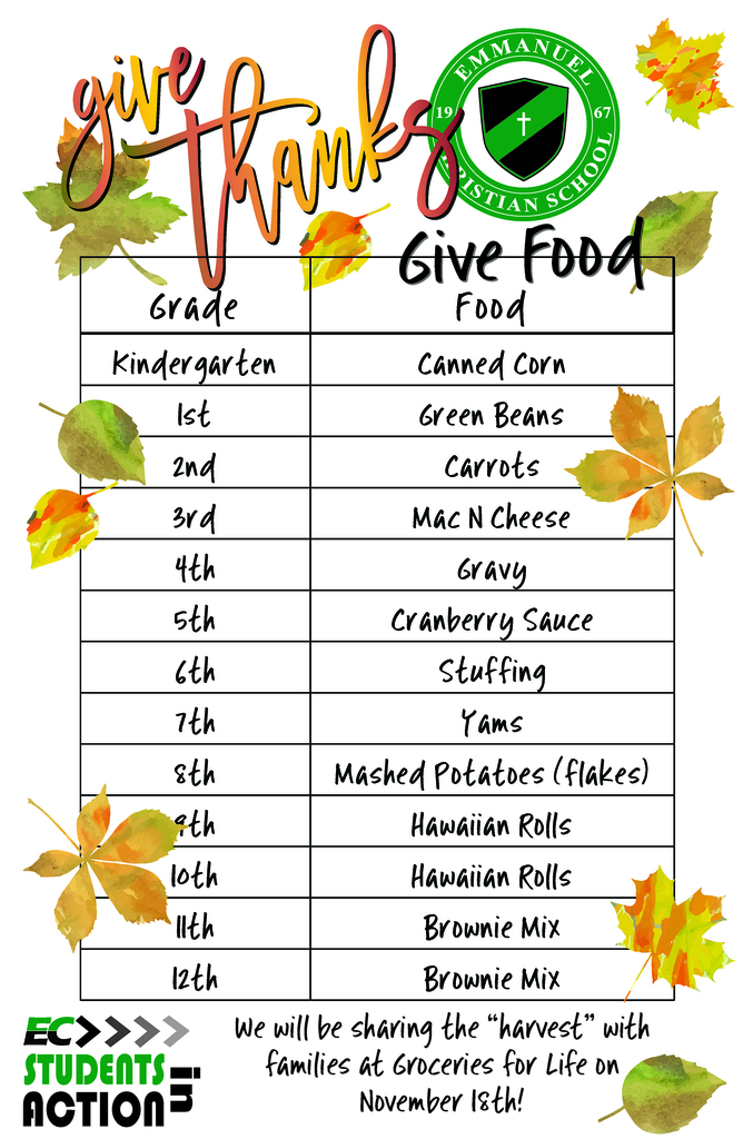 Give thanks give food